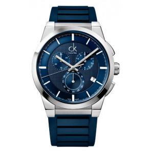 Correa de reloj Calvin Klein K2S371 Caucho Azul