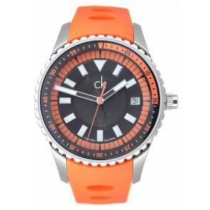 Correa de reloj Calvin Klein K32112 Caucho Naranja