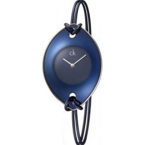 Correa de reloj Calvin Klein K33237 Cuero/Textil Azul