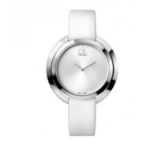 Correa de reloj Calvin Klein K3U231 Cuero Blanco