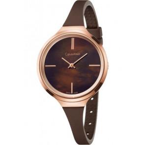 Correa de reloj Calvin Klein K4U236 Caucho Marrón