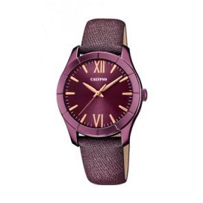 Correa de reloj Calypso K5718/5 Cuero Púrpura 17mm