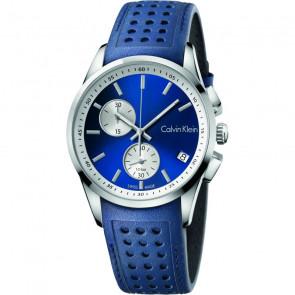 Correa de reloj Calvin Klein K600.000.258 / K5A371VN Cuero Azul