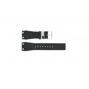 Correa de reloj K7547100 / K600060218 Cuero/Plástico Negro 25mm