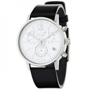 Correa de reloj Calvin Klein K7627120 / K7627107 / K600061350 Cuero Negro 22mm