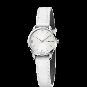 Correa de reloj Calvin Klein K7V231 Cuero Blanco 12mm