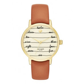 Correa de reloj Kate Spade New York KSW1237 Cuero Marrón 16mm