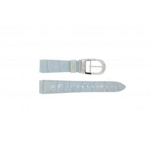 Correa de reloj WoW LEDER-BLAUW-18 Cuero Azul 18mm