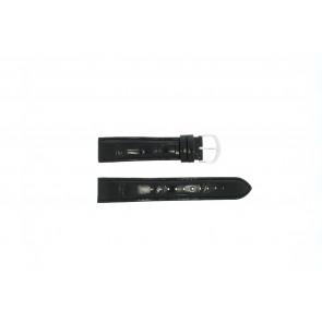 Lorus correa de reloj 19MM Cuero Negro 19mm + costura negro