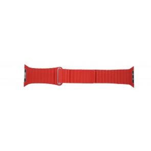 Apple (modelo de sustitución) correa de reloj LS-AB-110 Piel Rojo 42mm