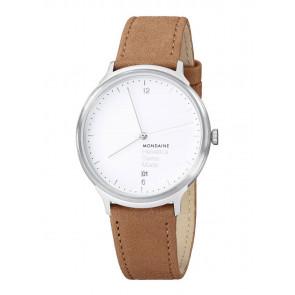 Correa de reloj Mondaine MH1.L2210.LG MB20121 / MB20121 Cuero Marrón claro 18mm