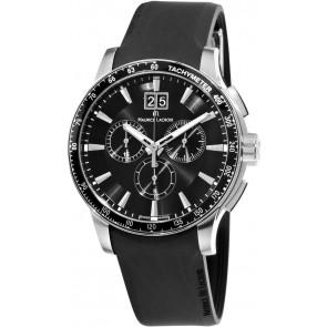 Correa de reloj Maurice Lacroix MI1098 / AQ60872 / ML640-000020 Silicona Negro 18mm