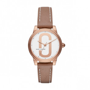 Correa de reloj Marc by Marc Jacobs MJ1579 Cuero Beige 16mm