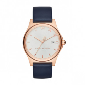 Correa de reloj Marc by Marc Jacobs MJ1609 Cuero Azul 18mm