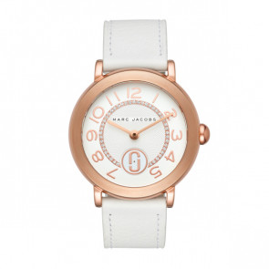 Correa de reloj Marc by Marc Jacobs MJ1616 Cuero Blanco 18mm