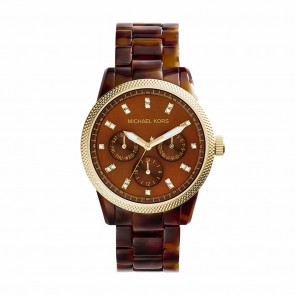 Correa de reloj Michael Kors MK5038 Plástico Marrón
