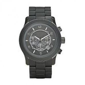 Correa de reloj Michael Kors MK8148 Acero/Silicona Gris antracita 24mm