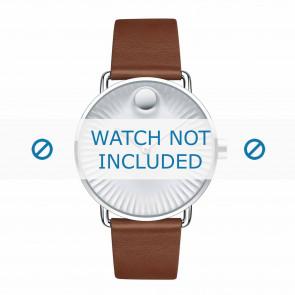 Movado correa de reloj 3680038 Cuero Cognac 20mm
