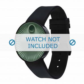 Movado correa de reloj 3680041 Silicona Negro 22mm