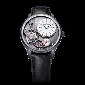 Correa de reloj Maurice Lacroix Gravity ML550-000256 Cuero de cocodrilo Negro