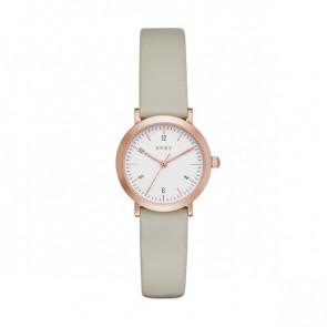 Correa de reloj DKNY NY2514 Cuero Gris pardo 14mm