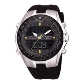 Correa de reloj Pulsar NX14-X00101 Silicona Negro