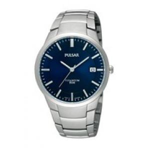 Correa de reloj Pulsar VJ42 X021 / PS9009X1 / PS9011X1 / PS9013X1 / PH280X Titanio Gris