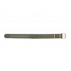Timex correa de reloj PW2P98500 Cuero Gris pardo 18mm + costura beige