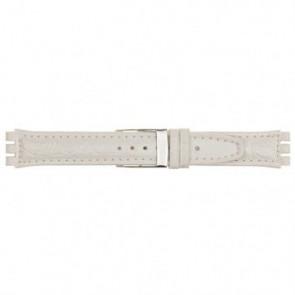 Correa para relojes Swatch blanco 19mm 20M