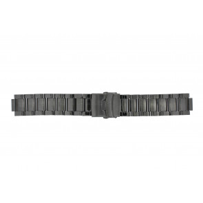 Q&Q correa de reloj QQ13ST-AC-ST Metal Gris antracita 13mm