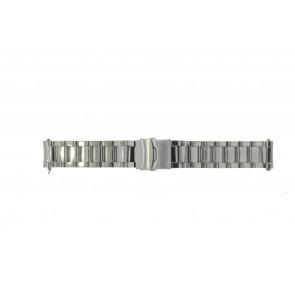 Correa de reloj QQ22RHSHI Metal Plateado 22mm