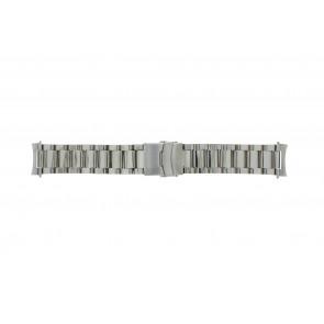 Correa de reloj QQ22STROU Metal Plateado 22mm