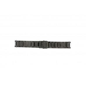 Correa de reloj QQ24ZWR- Metal Gris antracita 24mm
