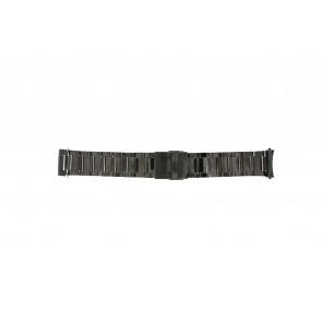 Correa de reloj QQ24ZWRHD Metal Gris antracita 24mm