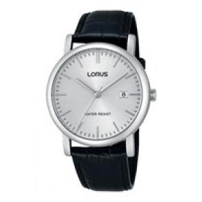 Lorus correa de reloj RG839CX9 / VJ32 X246 / RHG008X Cuero Negro 20mm + costura negro