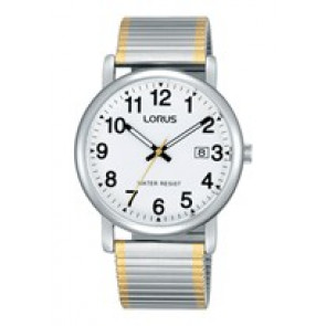 Lorus correa de reloj RG861CX9 / VJ32 X246 / RHA063X Metal Bicolor 20mm