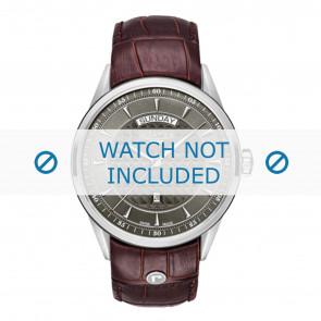 Roamer correa de reloj 508293-41-05-05 Cuero Marrón 22mm + costura predeterminada