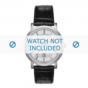 Roamer correa de reloj 709856-41-12-07 Cuero Negro 20mm + costura predeterminada