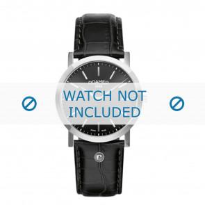 Roamer correa de reloj 937830-41-50-09 Cuero Negro 22mm + costura predeterminada