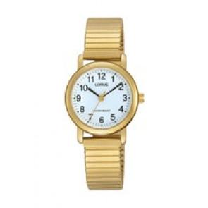 Lorus correa de reloj RRS78VX9 / V501 X471 / RHN147X Metal Chapado en oro 13mm