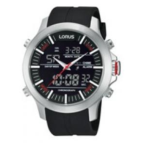 Correa de reloj Lorus Z021-X002-RW607AX9 Caucho Negro 21mm