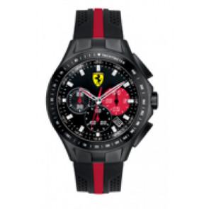 Correa de reloj Ferrari SF-03-1-34-0015 / 689300022 Silicona Negro 22mm
