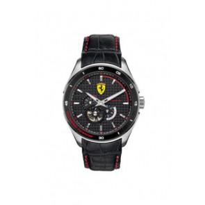 Correa de reloj Ferrari SF-11-1-34-0043 / 689300062 Cuero Negro