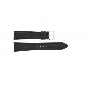 Correa de reloj Raymond Weil SI1501-BSB-C-2 Cuero de cocodrilo Negro 15mm