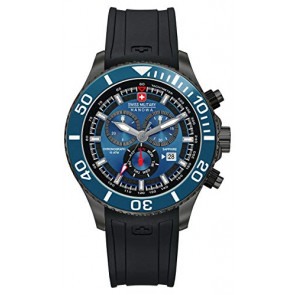 Correa de reloj Swiss Military Hanowa 06-4226.30.003-SM34223AEU Caucho Negro