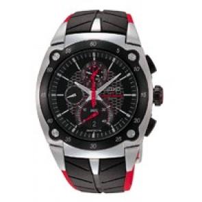 Correa de reloj Seiko 7T82-0AF0 / SPC009P1 Caucho Negro