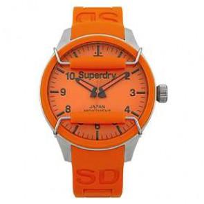 Correa de reloj Superdry SYG109OG Silicona Naranja