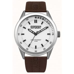Correa de reloj Superdry SYG207TS / 222793 Cuero Marrón