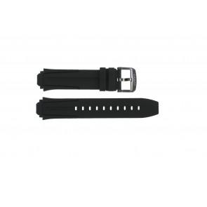 Correa de reloj Tissot T1114173744103A / T1114173744107A / T603042129 Silicona Negro 18mm