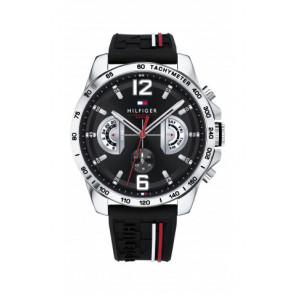 Correa de reloj Tommy Hilfiger TH-320-1-14-2380 / TH1791473 / TH679302202 Caucho Negro 22mm